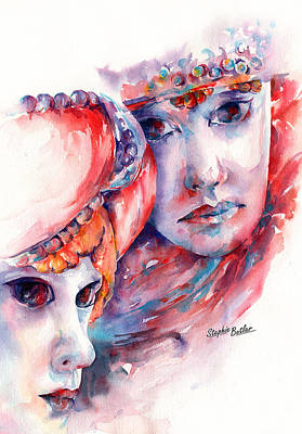 Watercolor Painting - Fire And Ice by Stephie Butler
