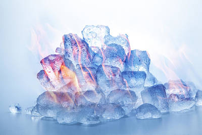 Digital Art - Fire And Ice by Stewart Scott
