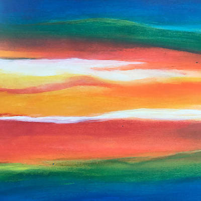 Painting - Fire And Rain by Susi Schuele