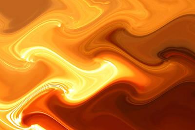 Trippy Digital Art - Fire And Smoke by Joshua Sunday