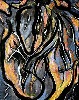Painting - Fire And Stone by Lynda Lehmann