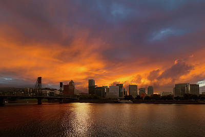 Sky Photograph - Fire And Water by David Gn