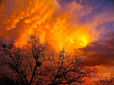 Fire And Water In The Sky Art Print by Chuck Taylor