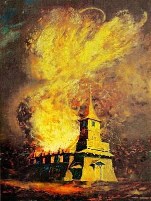 Fire Angel Art Print