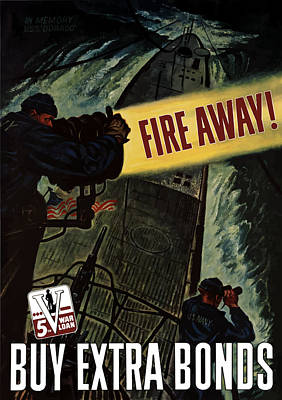 Us Navy Mixed Media - Fire Away by War Is Hell Store