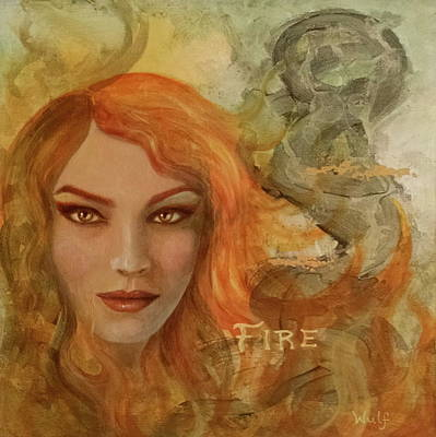 Mixed Media - Fire by Bernadette Wulf
