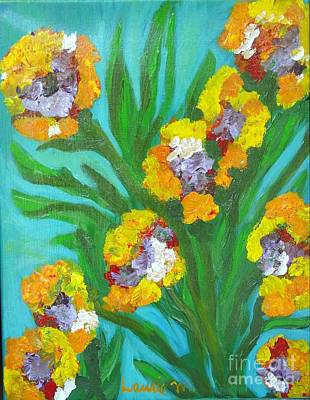 Painting - Fire Blossoms by Laurie Morgan
