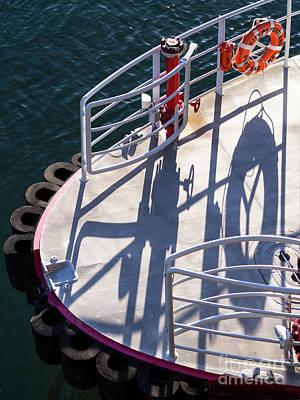 Photograph - Fire Boat Deck, Portland, Maine -90187 by John Bald