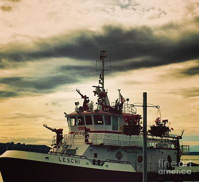 Photograph - Fire Boat by LeLa Becker