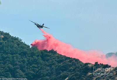 Fireground Photograph - Fire Bomber Drop by Tommy Anderson