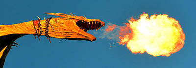 Photograph - Fire Breathing Dragon Pano Work by David Lee Thompson