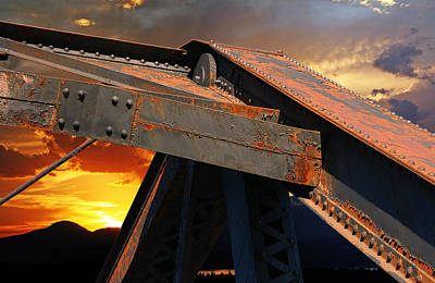 Sky Photograph - Fire Bridge by Melvin Kearney