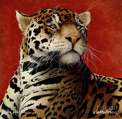 Painting - Fire Cat... by Will Bullas