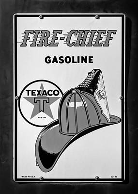 Texaco Wall Art - Photograph - Fire-chief Sign #2 by Stephen Stookey