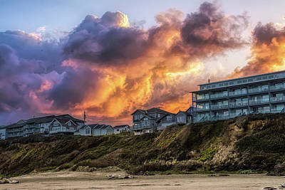 Photograph - Fire Clouds by Bill Posner