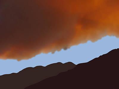 Digital Art - Fire Clouds Over San Jacintos by Stan  Magnan