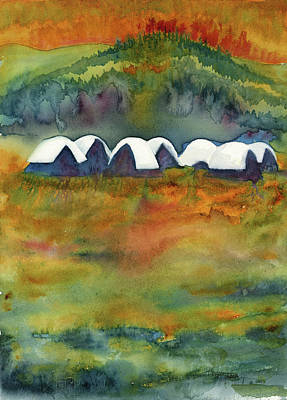 Fire Comes To Fire Camp Original by Tonja Opperman