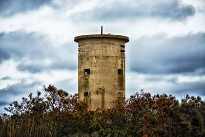 Photograph - Fire Control Tower One In The Clouds by Bill Swartwout