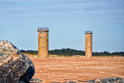 Photograph - Fire Control Towers 5 And 6 At Gordon's Pond by Bill Swartwout