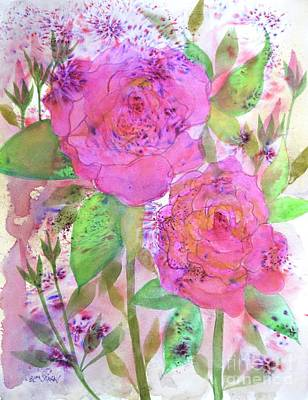 Painting - Fire Cracker Roses  by Barrie Stark