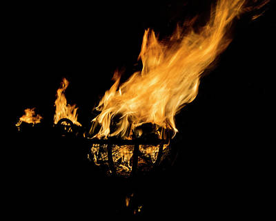 Photograph - Fire Cressets Three by Jerry Gammon
