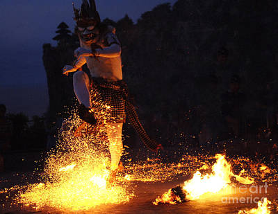 Photograph - Fire Dance Bali Indonesia 1 by Bob Christopher