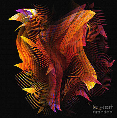 Digital Art - Fire Dance by Iris Gelbart