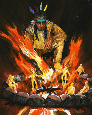Wall Art - Painting - Fire Dance by Jim Stilwell