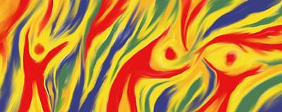 Abstract Art Digital Art - Fire Dancers by Jeff Montgomery