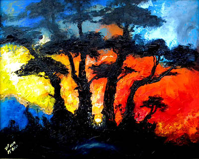 Painting - Fire by David McGhee
