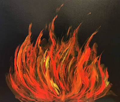 Painting - Fire by Dorothy Maier