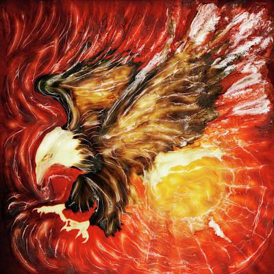 Fire Eagle Art Print by Paul Tokarski
