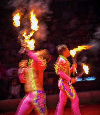 Photograph - Fire Eaters by Ron Morecraft