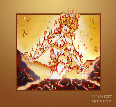 Collectible Mixed Media - Fire Elemental by Melissa A Benson