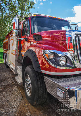 Photograph - Fire Engine by Grace Grogan