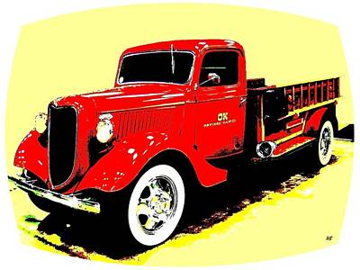 Digital Art - Fire Engine Ok by Will Borden