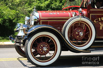 Art Print featuring the photograph Fire Engine Red 2 by Nicola Fiscarelli