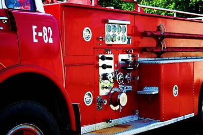 Fire Engine Red Art Print by Beverly Hammond