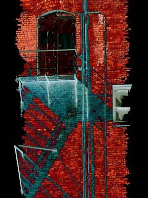 Digital Art - Fire Escape 7 by Tim Allen