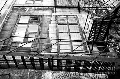 Photograph - Fire Escape Angles In Montreal by John Rizzuto