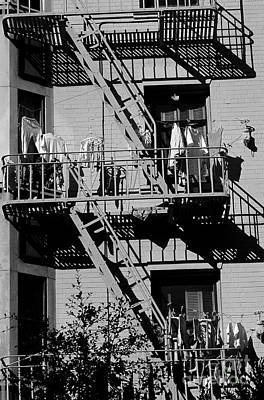 Photograph - Fire Escape China Town by Jim Corwin