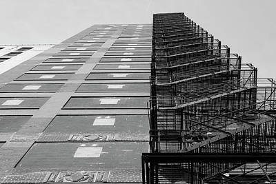 Photograph - Fire Escape In Chicago Black And White  by John McGraw