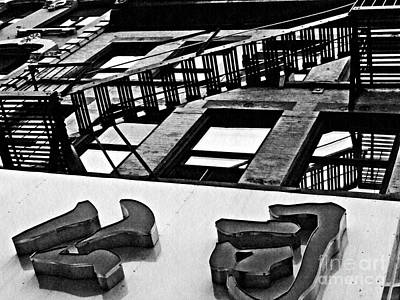 Photograph - Fire Escape In Chinatown by Sarah Loft