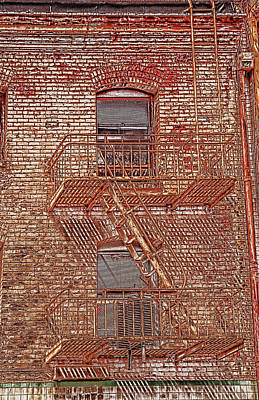 Photograph - Fire Escape by Marie Leslie