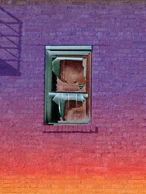 Fire Escape Window 2 Art Print by Tim Allen