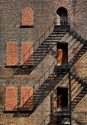 Photograph - Fire Escapes And Shadows by Cate Franklyn