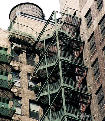 Photograph - fire escapes nYc by Mark Alesse