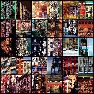 Photograph - Fire Escapes Of New York - Picture Panel by Miriam Danar