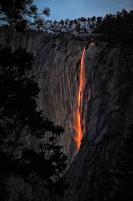 Fire Fall Print by Edgars Erglis