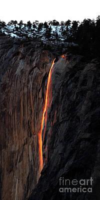 Photograph - Fire Falls - 2016 by Benedict Heekwan Yang